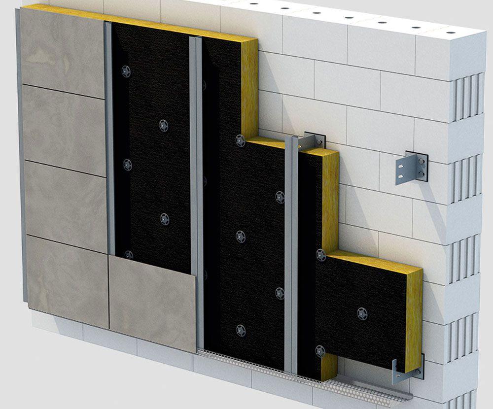 Anwendungsbild URSA Dämmung hinterlüfteter Fassaden