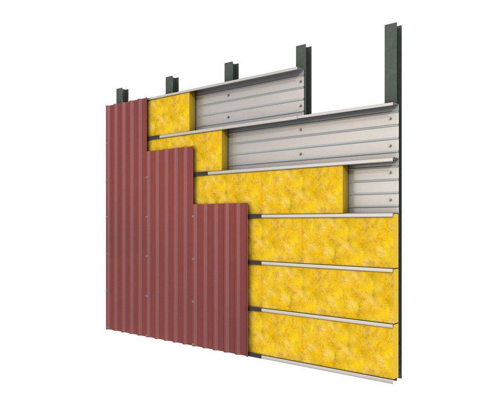 Anwendungsbild URSA Dämmung von Metallkassettenwänden